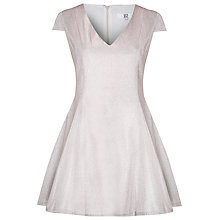 Buy True Decadence Lurex Skater Prom Dress, Silver/Pink Online at johnlewis.com