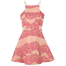 Buy True Decadence Brocade Skater Dress, Pink Brocade Online at johnlewis.com