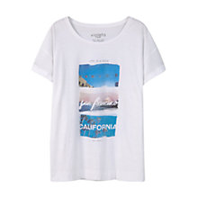 Buy Violeta by Mango Printed Image Cotton T-Shirt, White Online at johnlewis.com