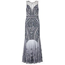 Buy Miss Selfridge Embellished Maxi Dress, Pewter Online at johnlewis.com
