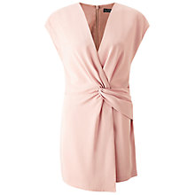 Buy Miss Selfridge Drape Playsuit, Pink Online at johnlewis.com