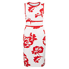 Buy Hobbs Isidora Dress, Poppy Red/Ivory Online at johnlewis.com
