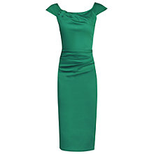 Buy Jolie Moi Ruched Sheath Dress, Green Online at johnlewis.com