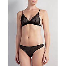 Buy Somerset by Alice Temperley Lulita Flock Spot Lace Triangle Bra and Brief Set, Black Online at johnlewis.com