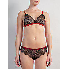 Buy Somerset by Alice Temperley Mia Triangle Soft Cup Lace Bra and Brief Set, Rust/Black Online at johnlewis.com