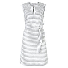 Buy Hobbs Anna Striped Dress, Ivory/Navy Online at johnlewis.com