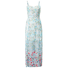 Buy Miss Selfridge Petite Floral Maxi Dress, Pale Blue Online at johnlewis.com