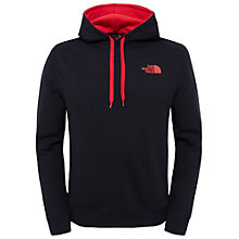 Buy The North Face Drew Peak Hoodie, Black/Red Online at johnlewis.com