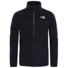 Buy The North Face 100 Glacier Full Zip Men's Fleece, Black Online at johnlewis.com