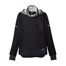 Buy Adidas Sequencials Climaheat Hoodie, Black Online at johnlewis.com