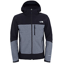 Buy The North Face Apex Bionic Full Zip Windproof Hoodie Jacket, Black/Grey Online at johnlewis.com