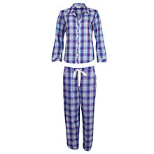 Buy Cyberjammies Dandelion Shower Checked Pyjama Set, Multi Online at johnlewis.com