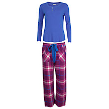 Buy Cyberjammies Magenta Madness Check Print Pyjama Set, Blue/Pink Online at johnlewis.com