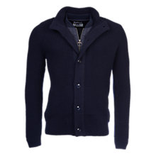 Buy Barbour Helm Button Through Wool Cardigan, Navy Online at johnlewis.com