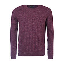 Buy Barbour Essential Cable Knit Crew Jumper Online at johnlewis.com