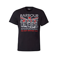 Buy Barbour International Graphic T-Shirt, Black Online at johnlewis.com