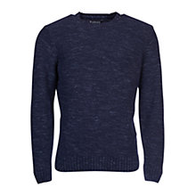 Buy Barbour Portlight Crew Neck Jumper, Navy Online at johnlewis.com