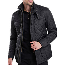 Buy Barbour International Quilted Windshield Jacket, Black Online at johnlewis.com