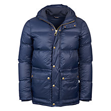 Buy Barbour Heritage Whithorn Quilted Natural Down Jacket, Navy Online at johnlewis.com