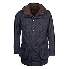 Buy Barbour Oakum Wax Jacket, Navy Online at johnlewis.com