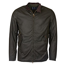 Buy Barbour Elgin Wax Jacket, Sage Online at johnlewis.com