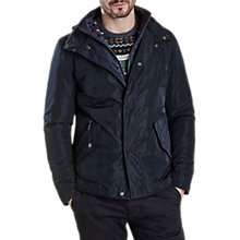 Buy Barbour Tulloch Waxed Jacket, Navy Online at johnlewis.com