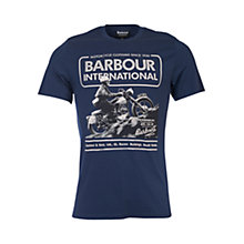 Buy Barbour International Hill Climb T-Shirt, Navy Online at johnlewis.com