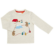 Buy John Lewis Baby Bear Mountain Trail T-Shirt, Oatmeal Online at johnlewis.com