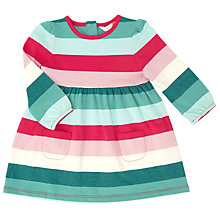 Buy John Lewis Baby Multi Stripe Jersey Dress, Multi Online at johnlewis.com