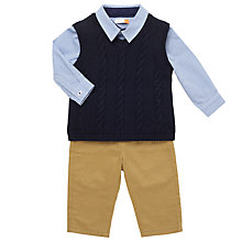 Buy John Lewis Baby Shirt, Tank Top and Chinos Set, Navy/Stone Online at johnlewis.com