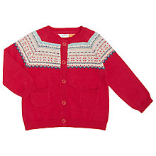 Buy John Lewis Baby Fair Isle Cardigan, Pink Online at johnlewis.com