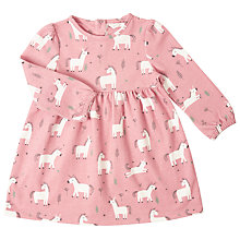 Buy John Lewis Baby Unicorn Print Jersey Dress, Pink Online at johnlewis.com