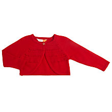Buy John Lewis Baby Cotton Button Shrug Online at johnlewis.com