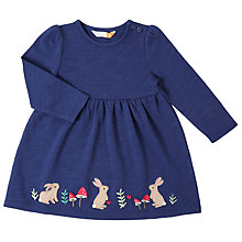 Buy John Lewis Baby Jersey Rabbit Dress, Navy Online at johnlewis.com