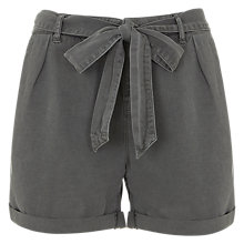 Buy Mint Velvet Belted Shorts, Khaki Online at johnlewis.com