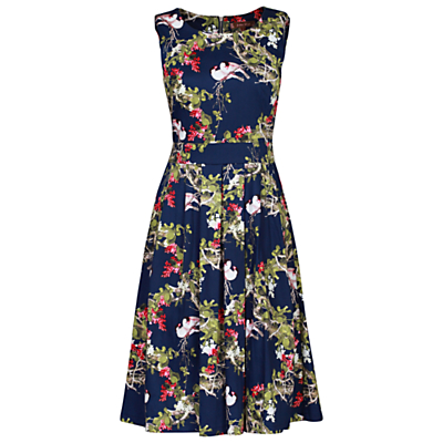 Jolie Moi 50s Bird Print Dress
