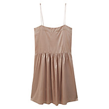 Buy Mango Metallic Dress, Pink Online at johnlewis.com