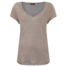 Buy Mint Velvet Shell Shimmer Slouch T-Shirt, Pale Pink Online at johnlewis.com