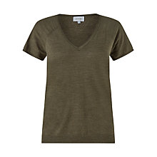Buy Jigsaw Linen-Blend Short Sleeve Jumper Online at johnlewis.com