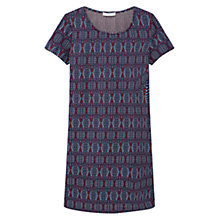 Buy Mango Contrast Textured Panel Dress, Navy Online at johnlewis.com