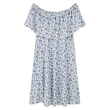 Buy Mango Ruffled Dress, Light Beige Online at johnlewis.com
