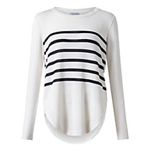 Buy Jigsaw Breton Jumper, White/Blue Online at johnlewis.com