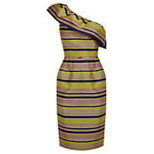 Buy Oasis Striped Ruffle Dress, Multi Online at johnlewis.com