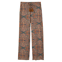 Buy Mango Print Culottes, Bright Orange Online at johnlewis.com
