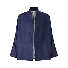 Buy Jigsaw Slub Kimono Jacket, Indigo Online at johnlewis.com