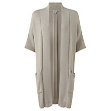 Buy Jigsaw Patch Pocket Cardigan, Stone Online at johnlewis.com