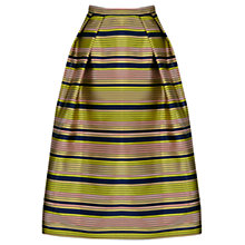 Buy Oasis Striped Midi Skirt, Multi Online at johnlewis.com