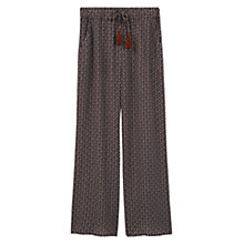 Buy Mango Printed Culottes, Dark Navy Online at johnlewis.com