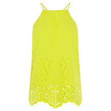 Buy Karen Millen Laser Cutwork Top, Lime Online at johnlewis.com