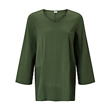 Buy Kin by John Lewis Trapeze Sleeve Top, Green Online at johnlewis.com